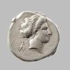 CAMPANIA, NEAPOLIS, AR STATER, 450-340 BC