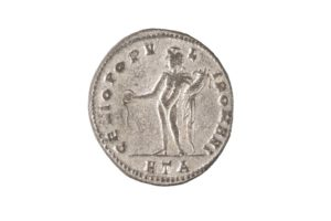 MAXIMINVS II, 305-308 AD as Caesar, SILVERED FOLLIS, Heraclea mint 307 AD
