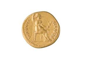 TIBERIUS, AUREUS, LUGDUNUM, AFTER 16 AD