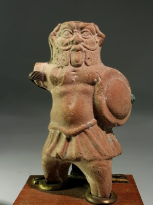 TERRACOTTA FIGURE OF BES AS SOLDIER