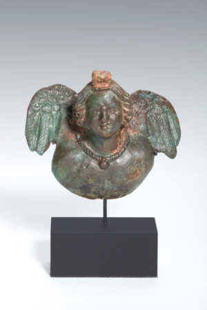 Roman bronze Amor applique