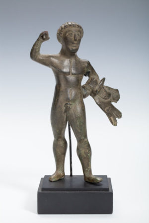 gallo-roman bronze Herakles figure
