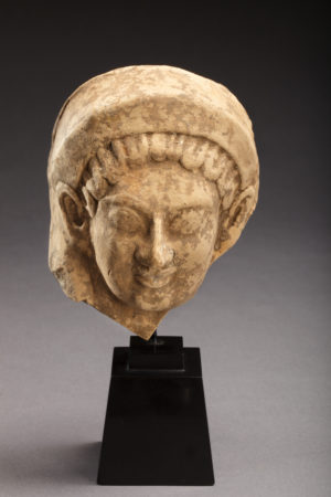 TERRACOTTA FEMALE HEAD PROTOME