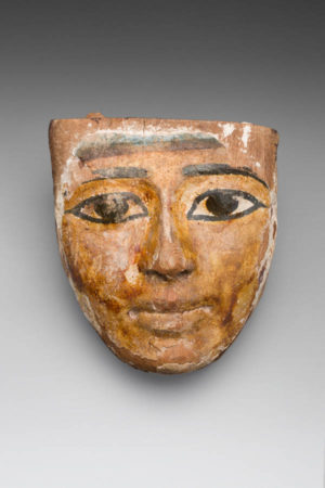 SMALL WOOD SARCOPHAGUS MASK