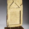 roman limestone funeral stele