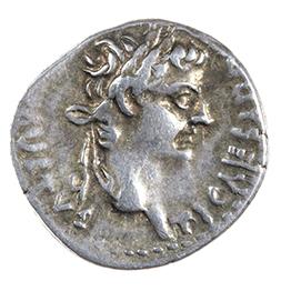 TIBERIUS (14-37 AD), DENARIUS, LUGDUNUM, AFTER 16 AD