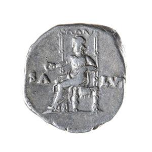 NERO, 54-68 AD. DENARIUS, ROME, 66-67 AD REV