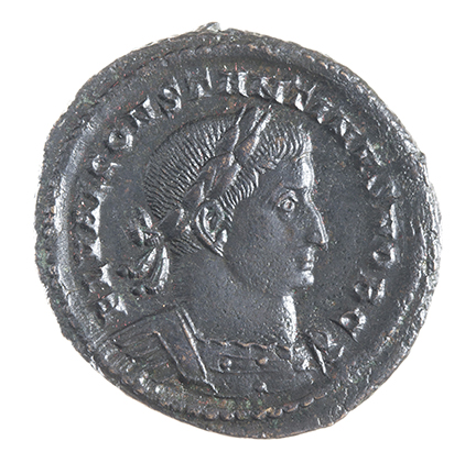 CONSTANTINE I, THE GREAT, 307-337 AD, AS CAESAR, FOLLIS, TREVERI 307 AD