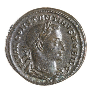 CONSTANTINE I, THE GREAT, 307-337 AD, AS CAESAR, FOLLIS, TREVERI 306-7 AD