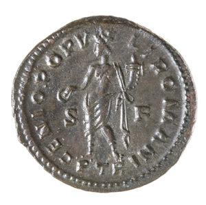 CONSTANTINE I, THE GREAT, 307-337 AD, AS CAESAR, FOLLIS, TREVERI 306-7 AD REV