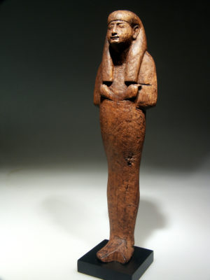 LARGE WOOD SHABTI