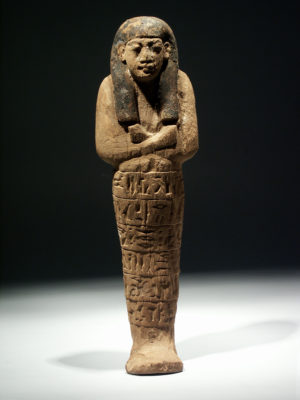 LARGE POLCHROME WOOD USHABTI OF ASET