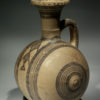 CYPRUS - WHITE PAINTED BARREL JAR