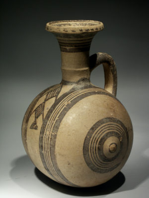 CYPRUS - WHITE PAINTED BARREL JAR