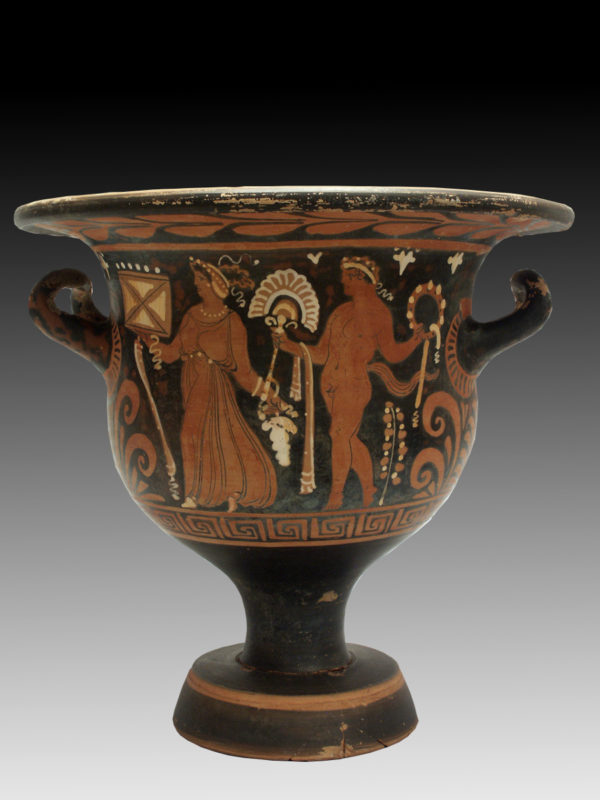 APULIAN RED FIGURE BELL KRATER BY GANYMEDES PAINTER