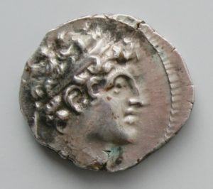 ALEXANDER I BALAS, AR DRACHM, 150-145 BC, ANTIOCH MINT, 149-146 BC