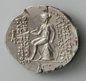 ALEXANDER I BALAS, AR DRACHM, 150-145 BC, ANTIOCH MINT, 149-146 BC rev