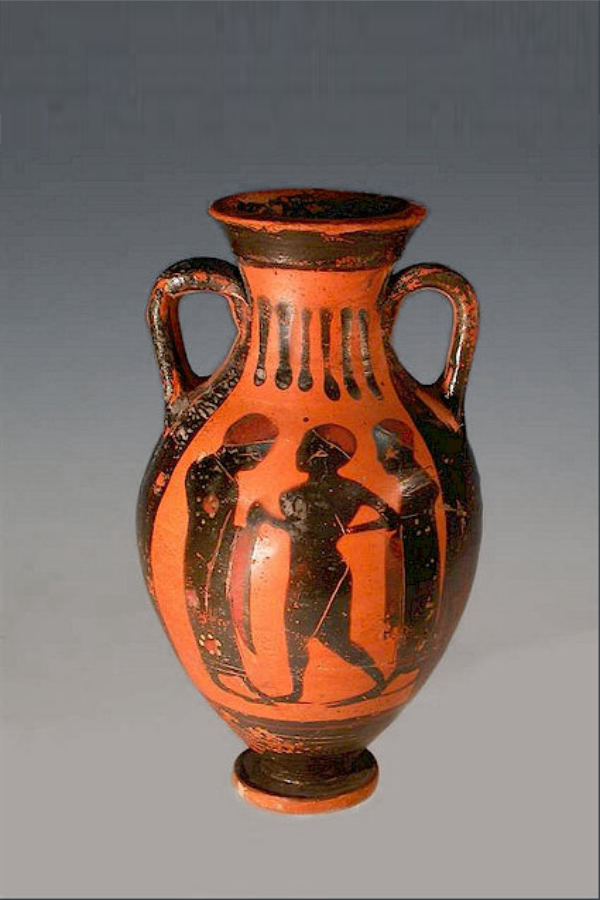 ATTIC BLACK-FIGURE AMPHORISKOS