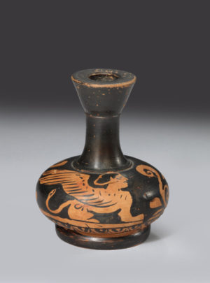 APULIAN RED FIGURE MINI LEKYTHOS