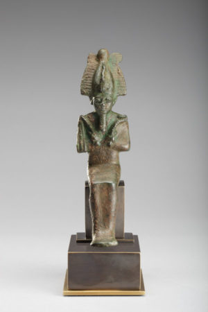 Bronze Seated Osiris
