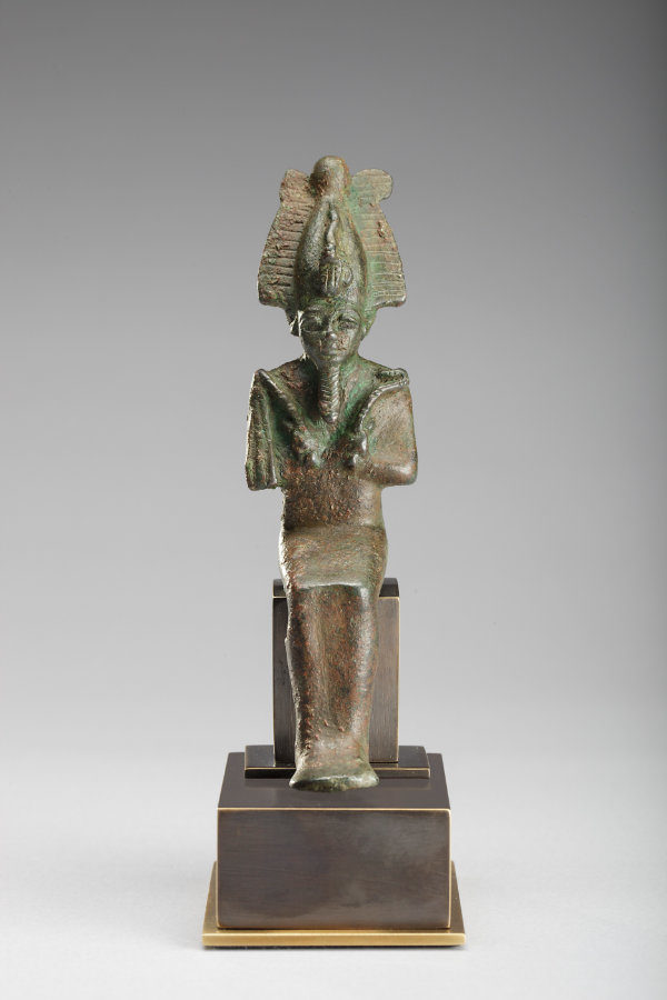 Bronze Seated Osiris