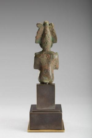 Bronze Seated Osiris Bronze Seated Osiris rev