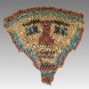 MULTICOLOURED FAIENCE MUMMY FACEMASK