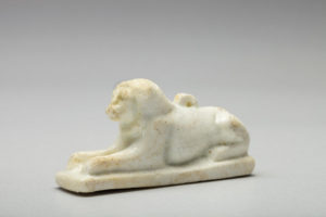 EGYPT WHITE FAIENCE LION