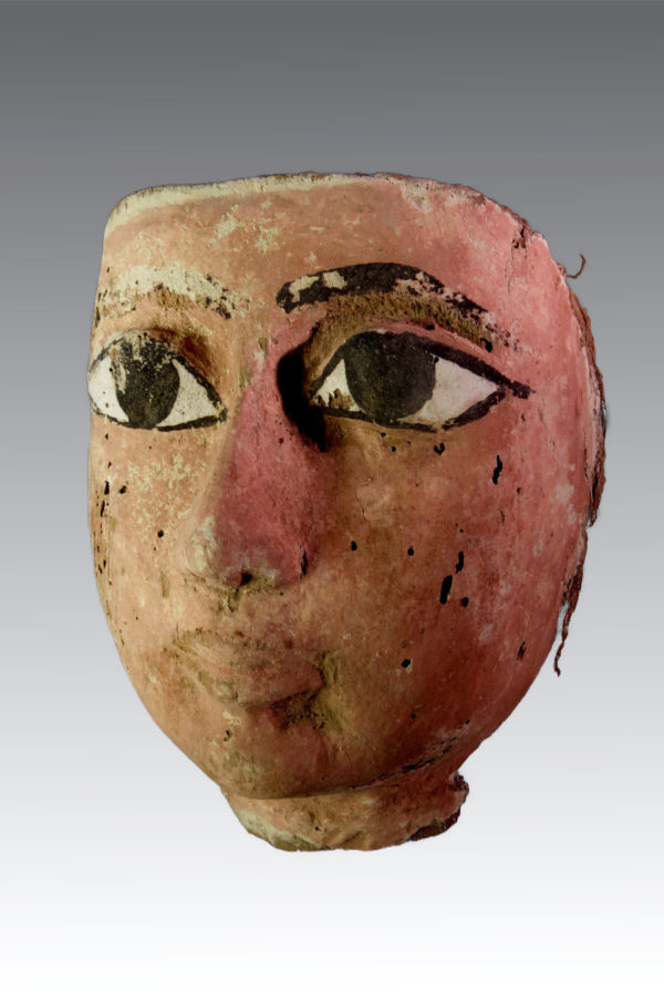 |Egyptian Wood Mask of a Sarcophagus