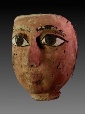 Egyptian Wood Mask of a Sarcophagus