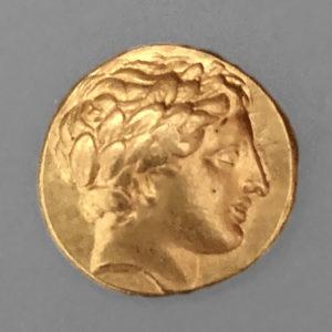 PHILIPPOS II, AV STATER, 359-336 BC, STRUCK PELLA,   340-328 BC