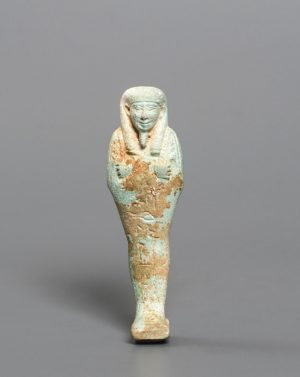 BLUISH GREEN FAIENCE USHABTI OF HEKA