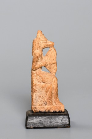 WOOD SEATED ANUBIS