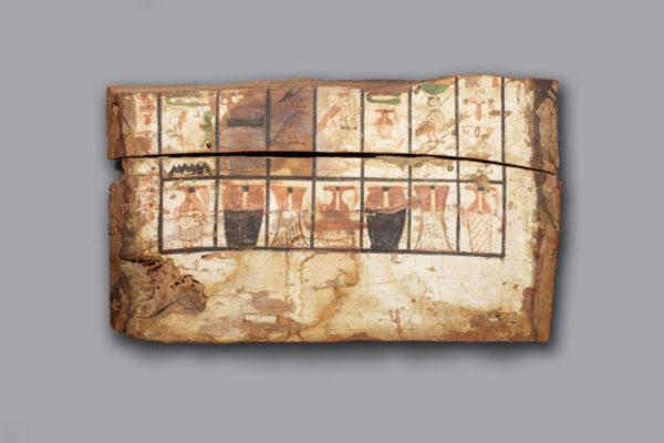 Polychrome Wood Sarcophagus Fragment