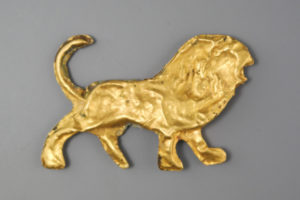 GREEK GOLD FIGURE OF A LION