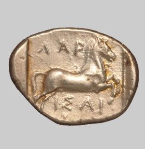 Larissa silver stater 400 BC rev