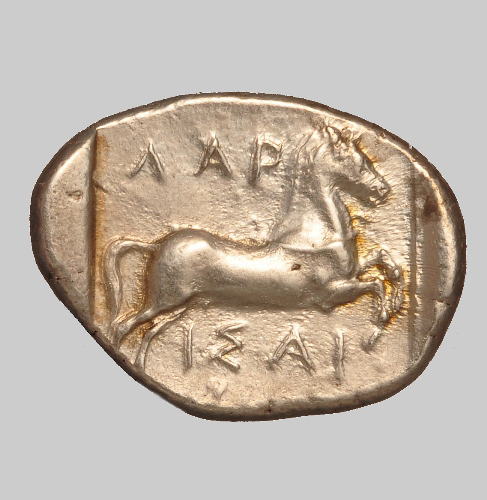Larissa silver stater 400 BC rev