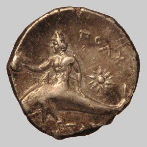 Tarentum stater 281 BC rev.