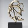 Romano-Celtic silver trumpet fibula