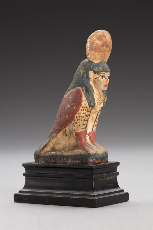 Ancient Egypt POLYCHROME PAINTED WOOD BA BIRD