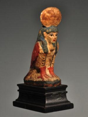 Ancient Egypt 9. polychrome painted wood ba bird