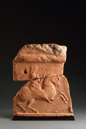 anatolian terracotta frieze fragment