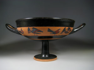 attic black-figure kylix, circle of tleson painter
