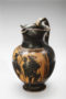 attic black-figure trefoil oinochoe