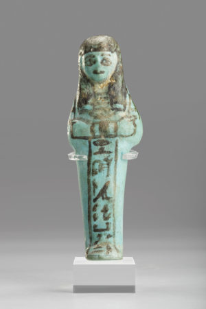 blue faience ushabti of hori