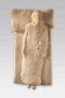 boeotian terracotta figure on bed