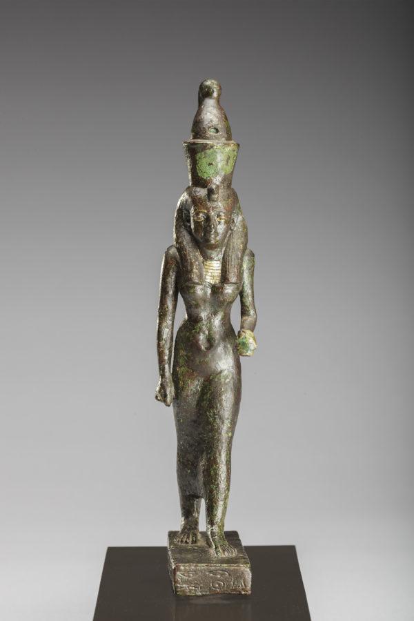 bronze figure of goddess mut