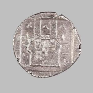 CHALKIDIAN LEAGUE, AR TETROBOL, 379-348 BC