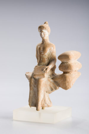 |corinthian terracotta seated female
