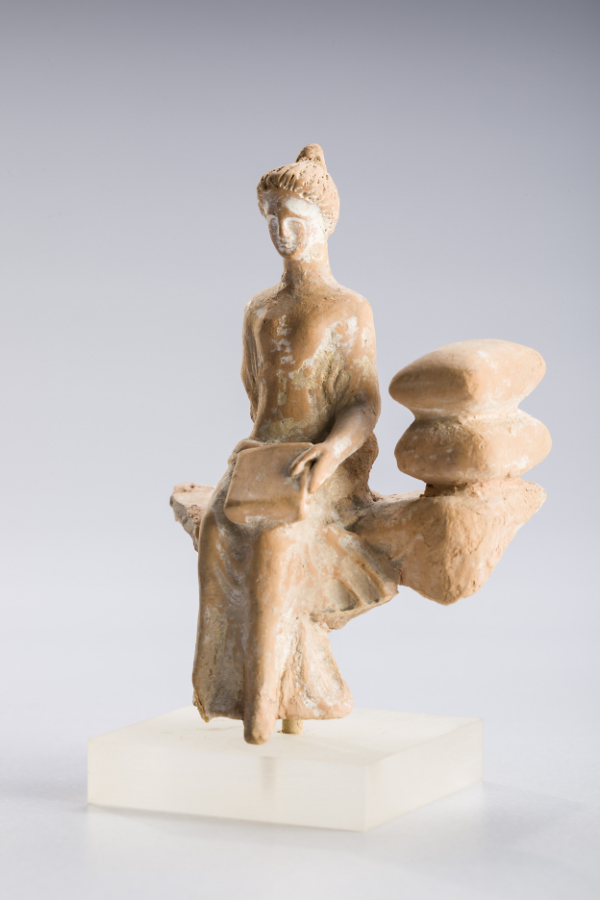 corinthian terracotta seated female